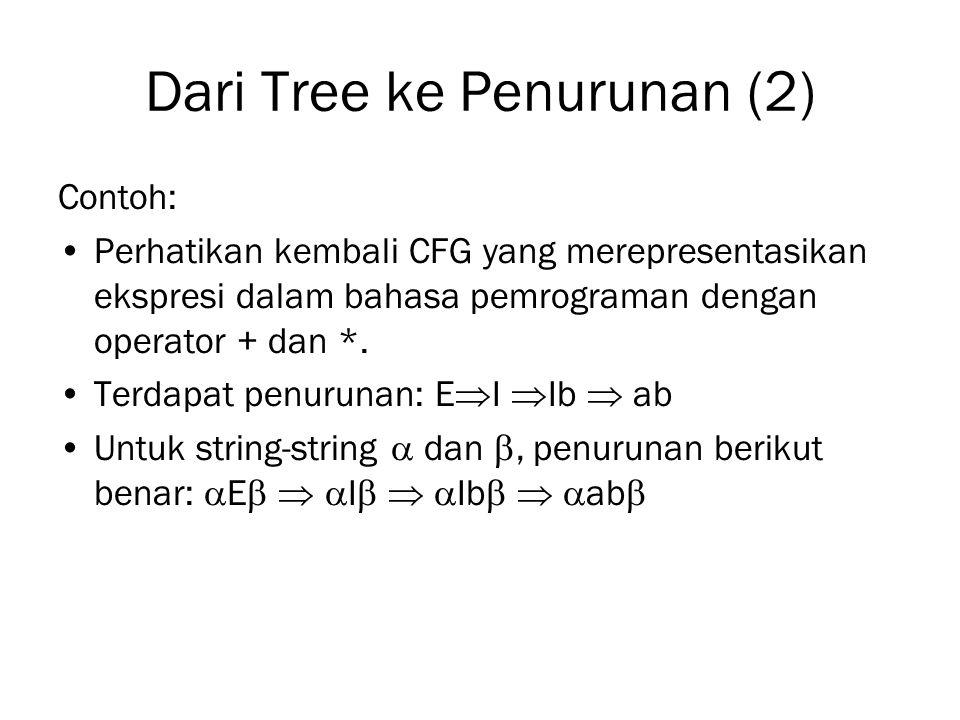 Dari Tree ke Penurunan (2)