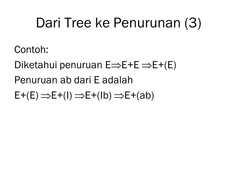 Dari Tree ke Penurunan (3)