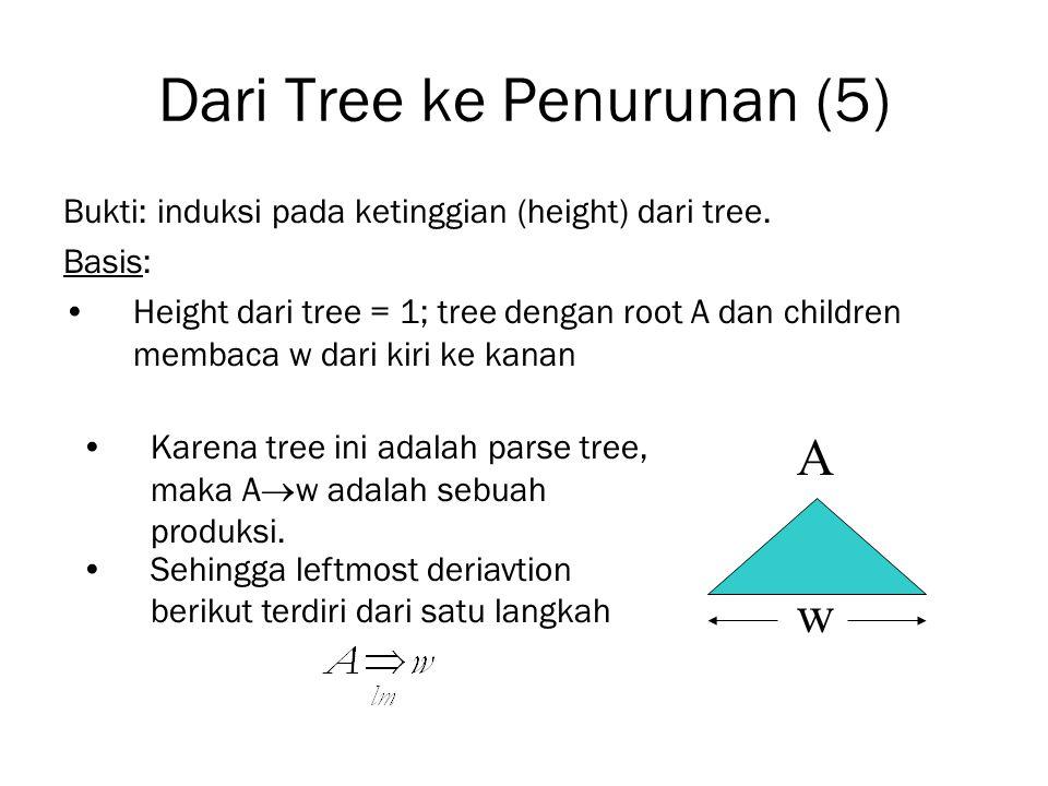 Dari Tree ke Penurunan (5)
