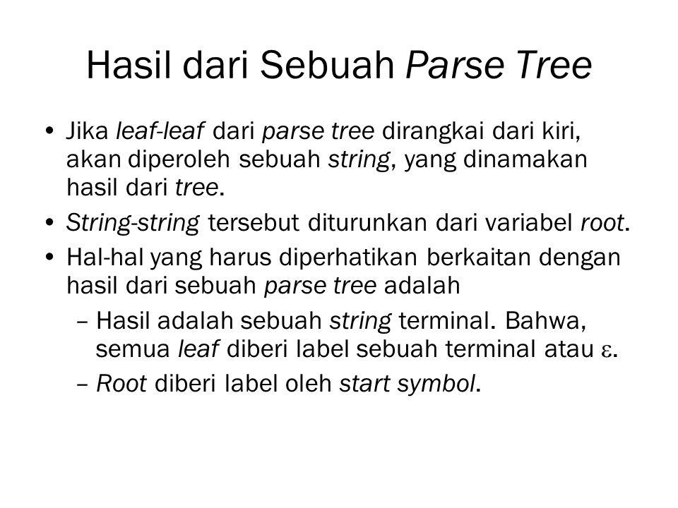 Hasil dari Sebuah Parse Tree