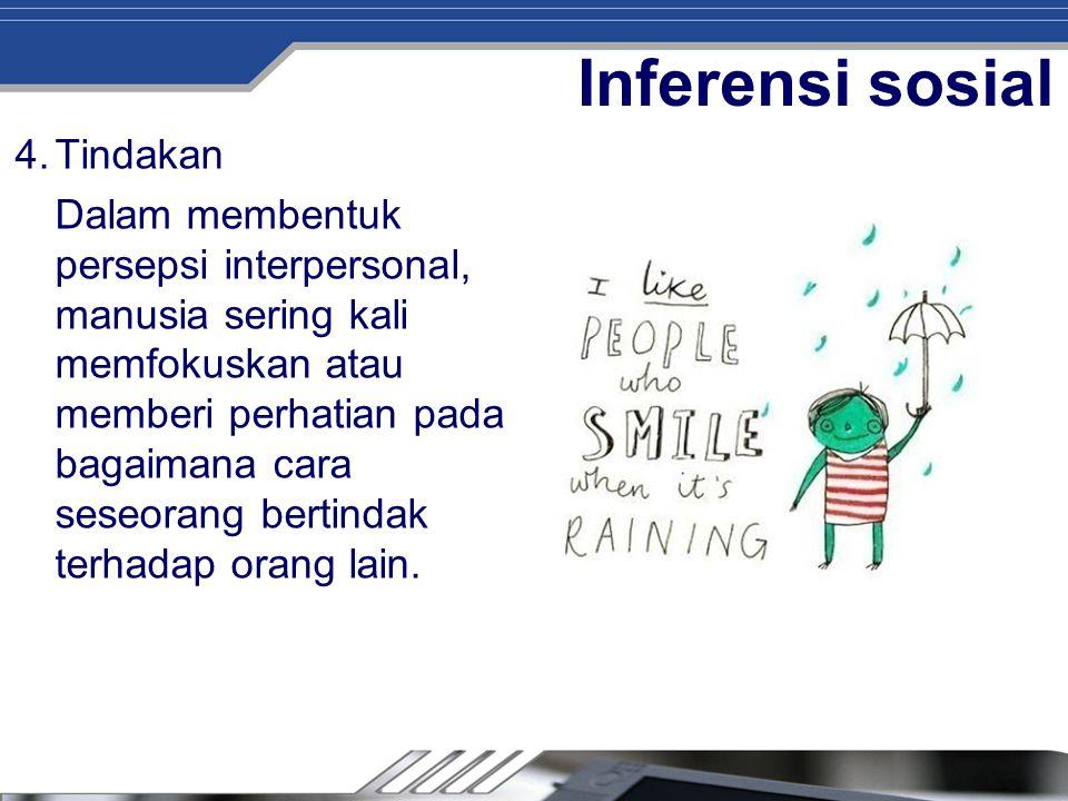Inferensi sosial Tindakan
