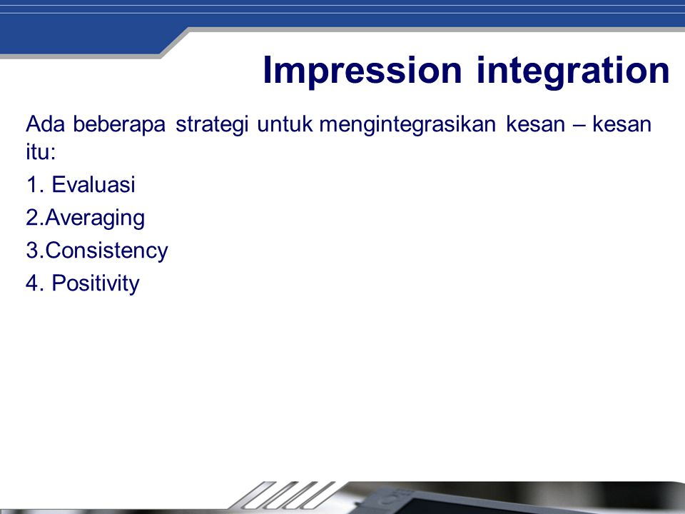 Impression integration