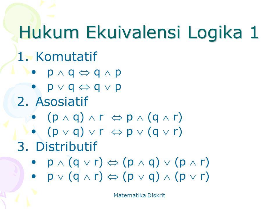 Hukum Ekuivalensi Logika 1