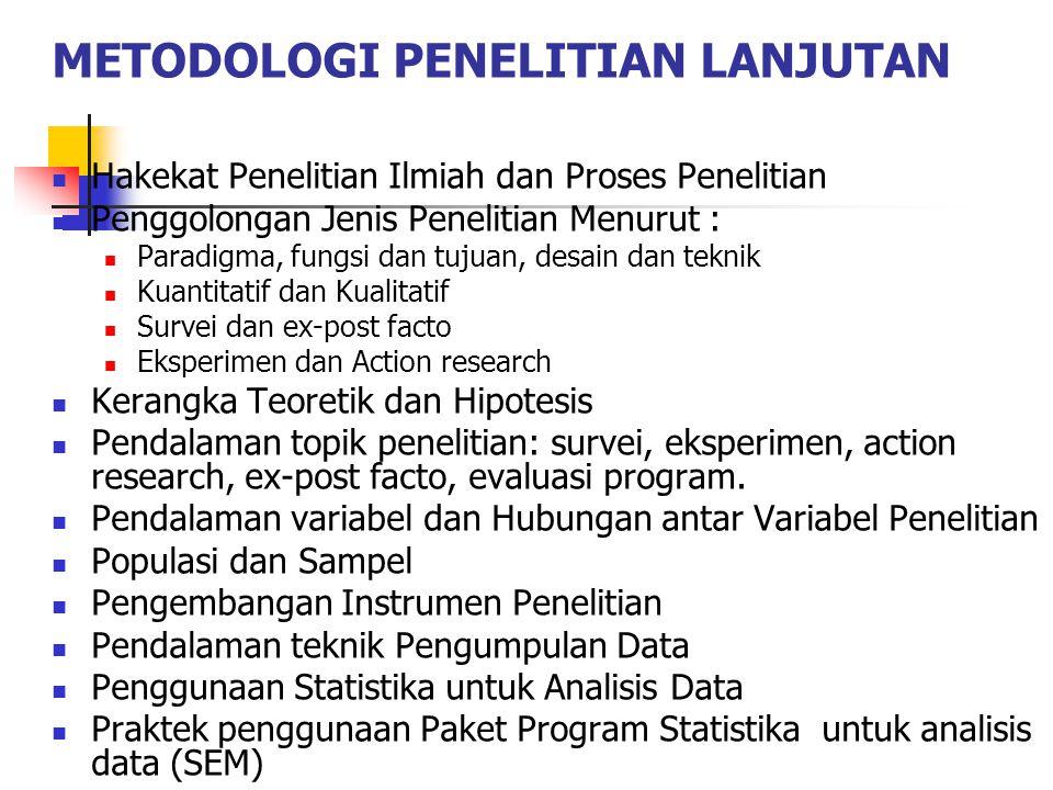 METODOLOGI PENELITIAN LANJUTAN