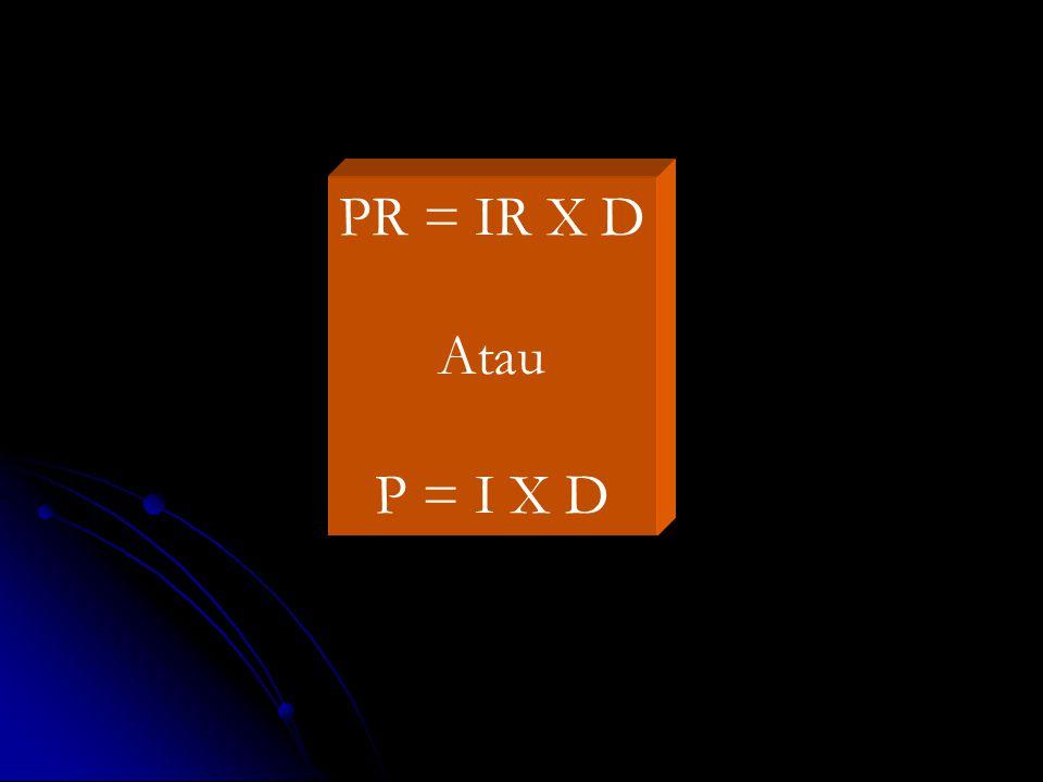 PR = IR X D Atau P = I X D