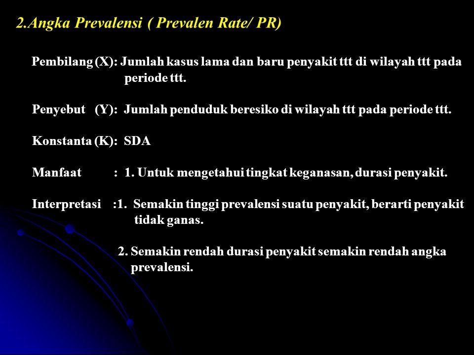 2.Angka Prevalensi ( Prevalen Rate/ PR)