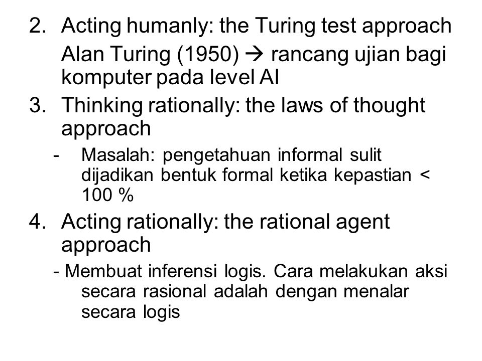 Acting humanly: the Turing test approach