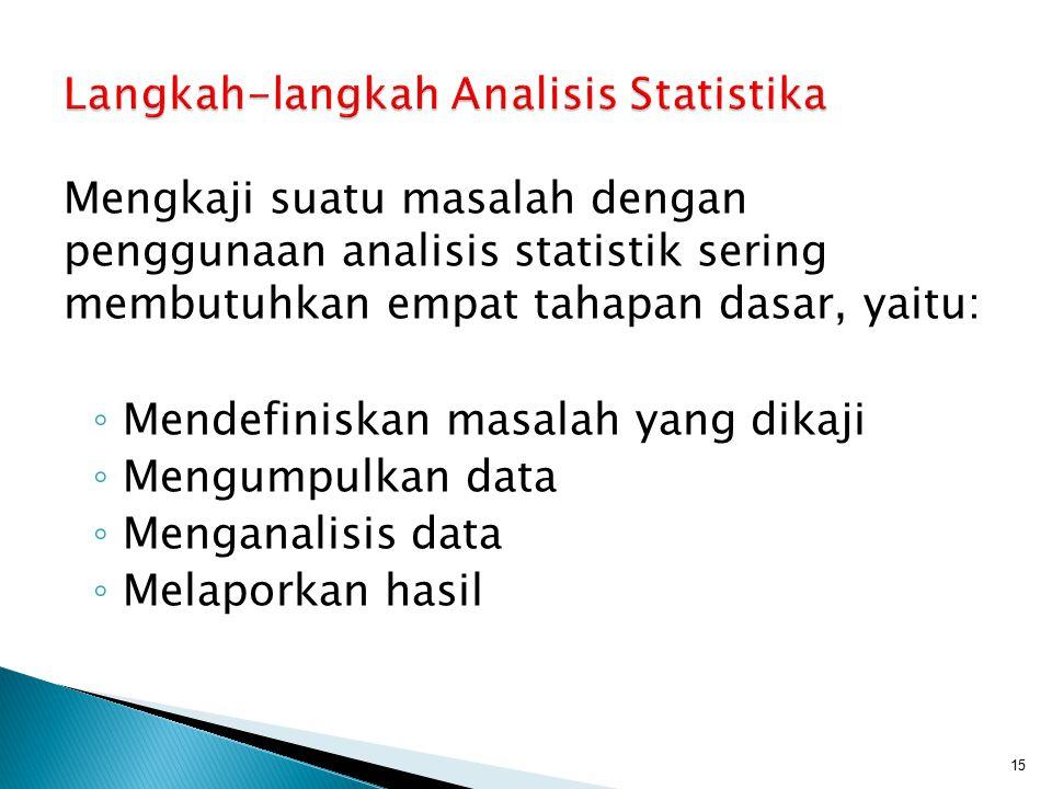 Langkah-langkah Analisis Statistika