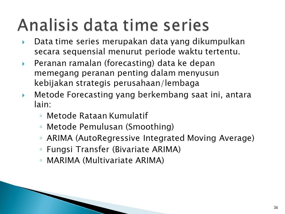 Analisis data time series