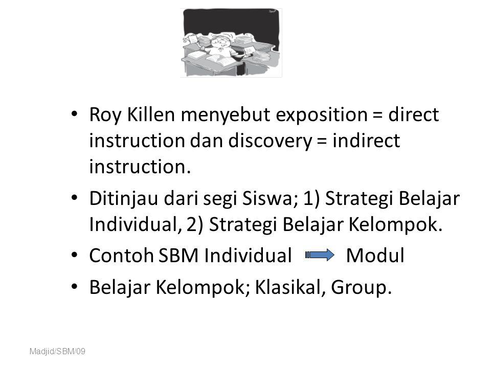 Contoh SBM Individual Modul Belajar Kelompok; Klasikal, Group.
