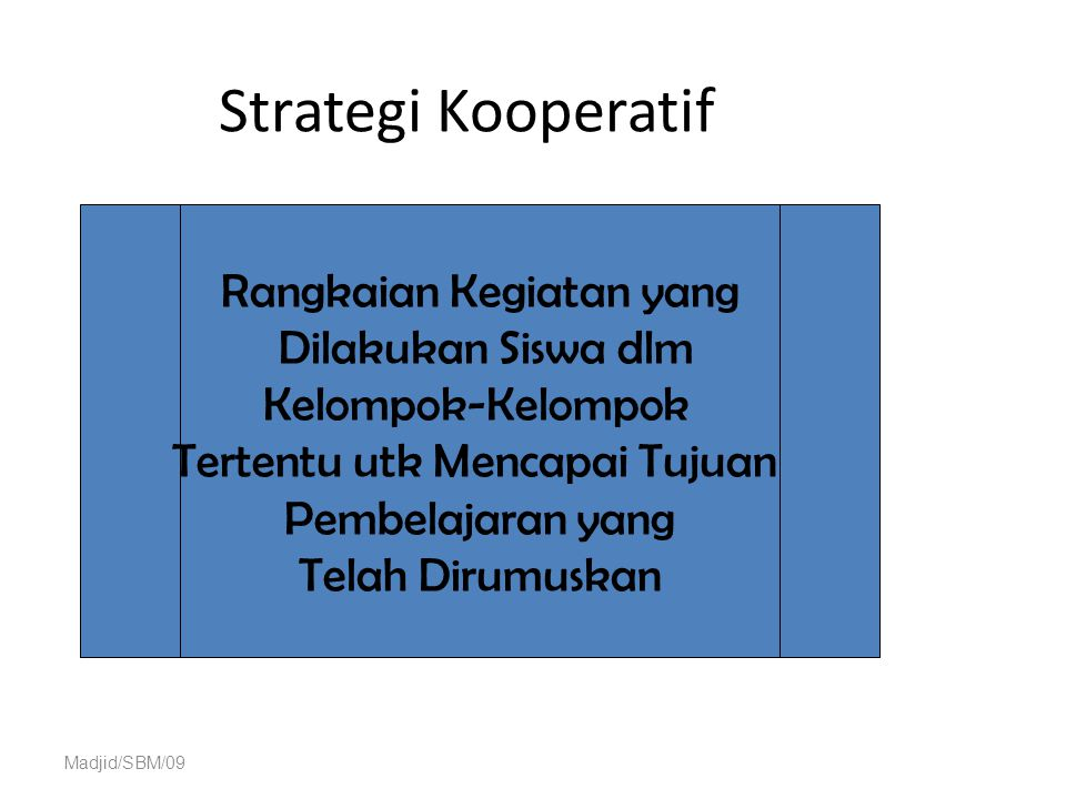 Strategi Kooperatif Rangkaian Kegiatan yang Dilakukan Siswa dlm