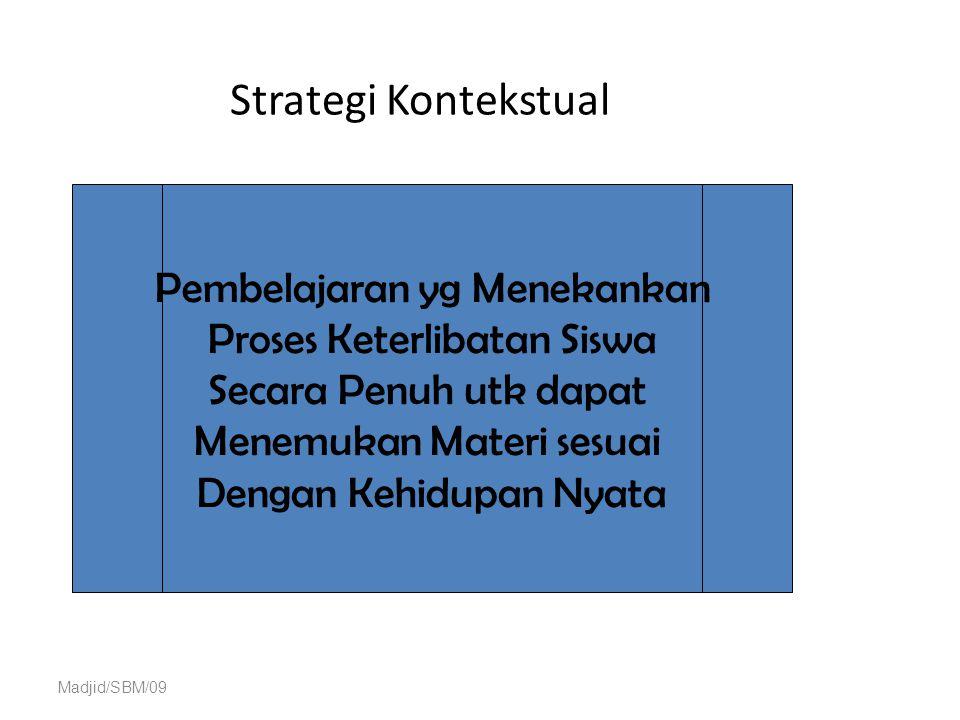 Strategi Kontekstual Pembelajaran yg Menekankan