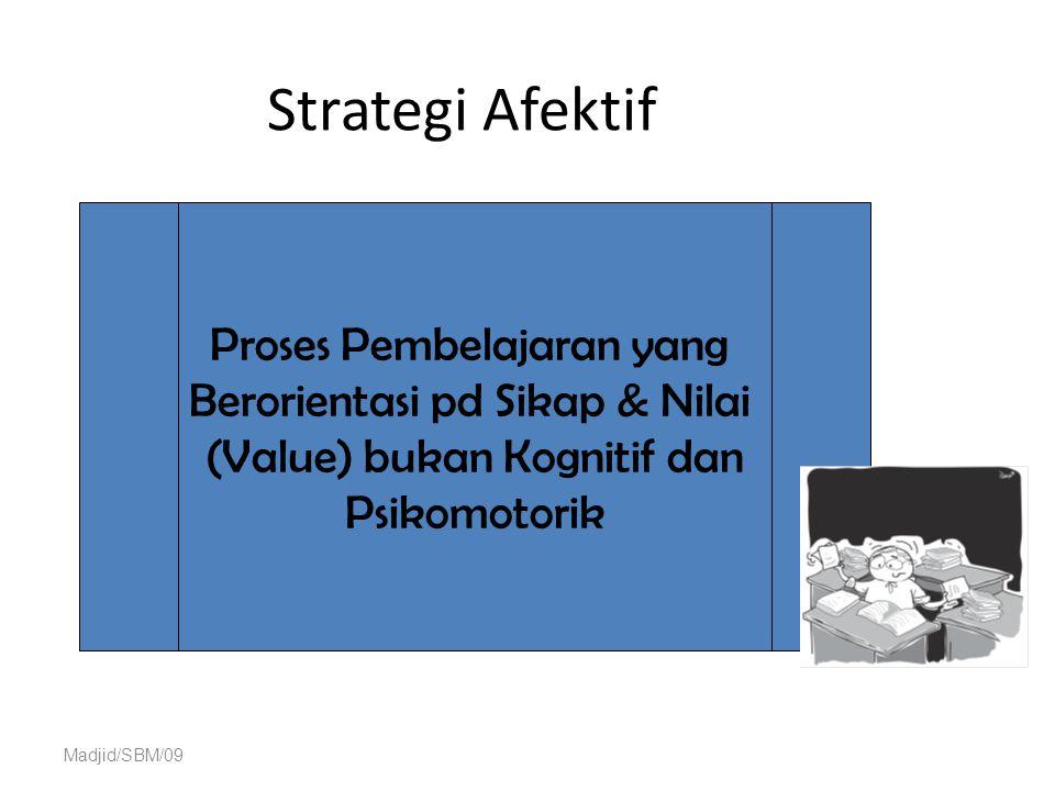 Strategi Afektif Proses Pembelajaran yang