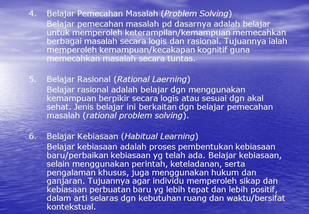 4. Belajar Pemecahan Masalah (Problem Solving)