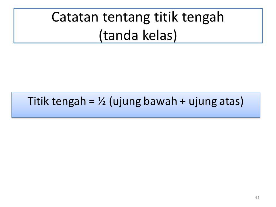 Catatan tentang titik tengah (tanda kelas)