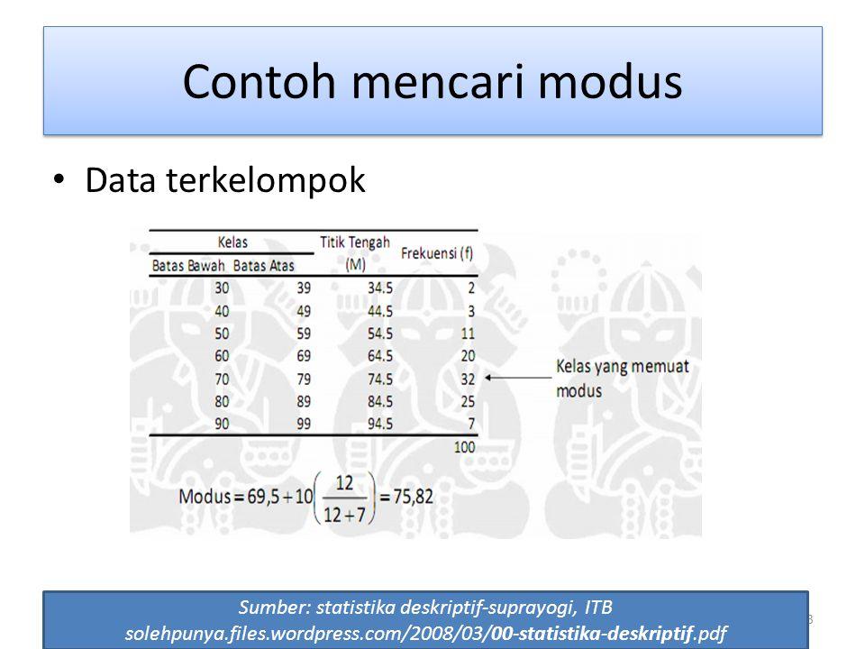 Sumber: statistika deskriptif-suprayogi, ITB
