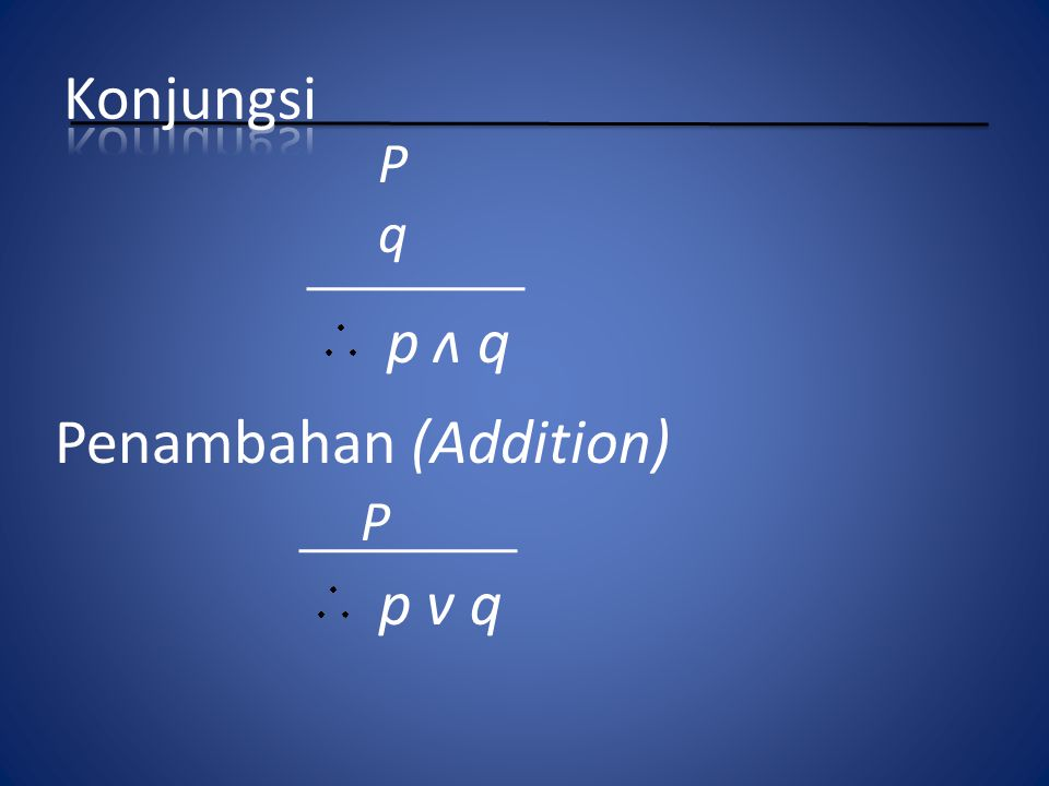 Penambahan (Addition)