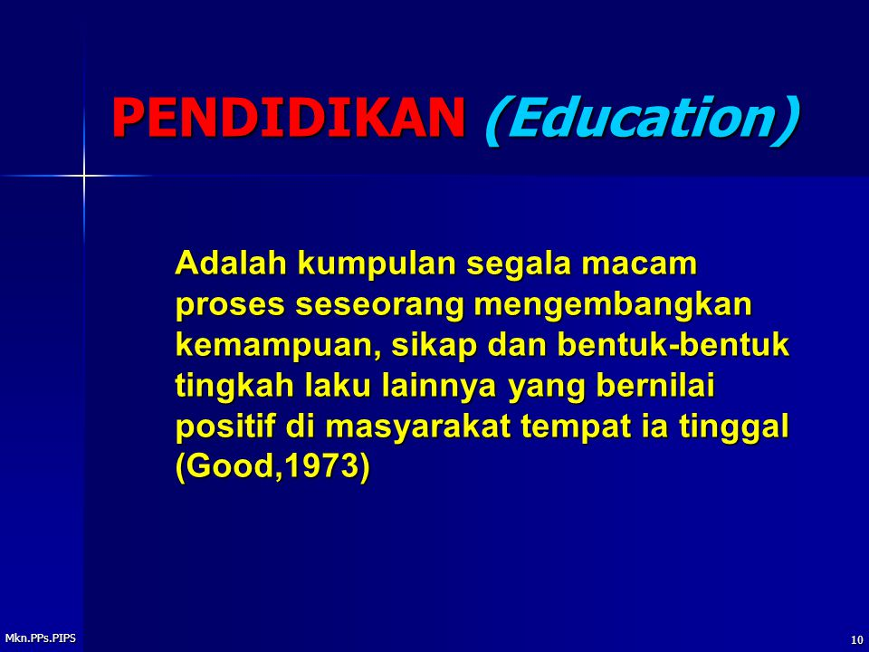 PENDIDIKAN (Education)