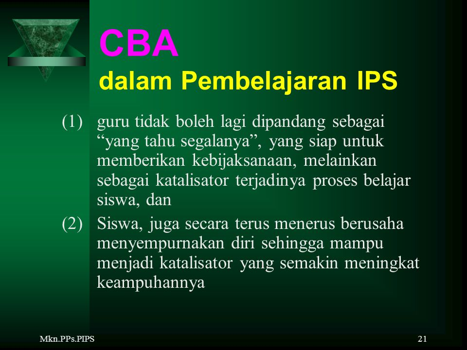 CBA dalam Pembelajaran IPS