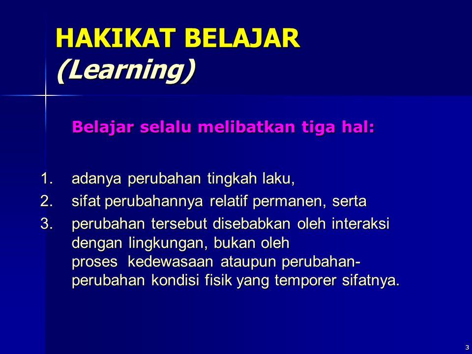 HAKIKAT BELAJAR (Learning)