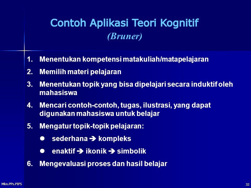Contoh Aplikasi Teori Kognitif