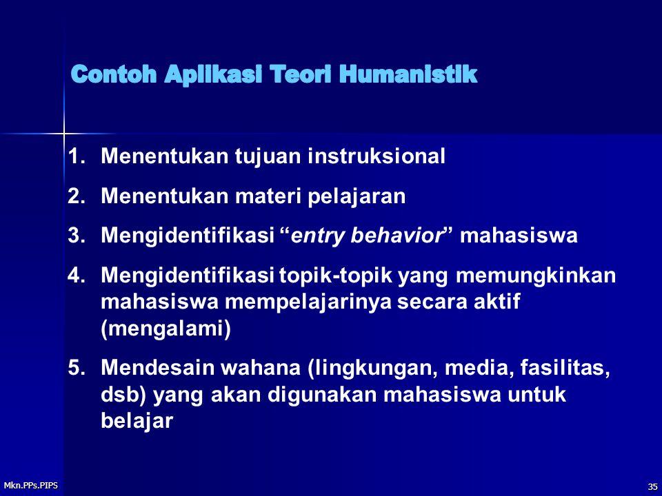 Contoh Aplikasi Teori Humanistik