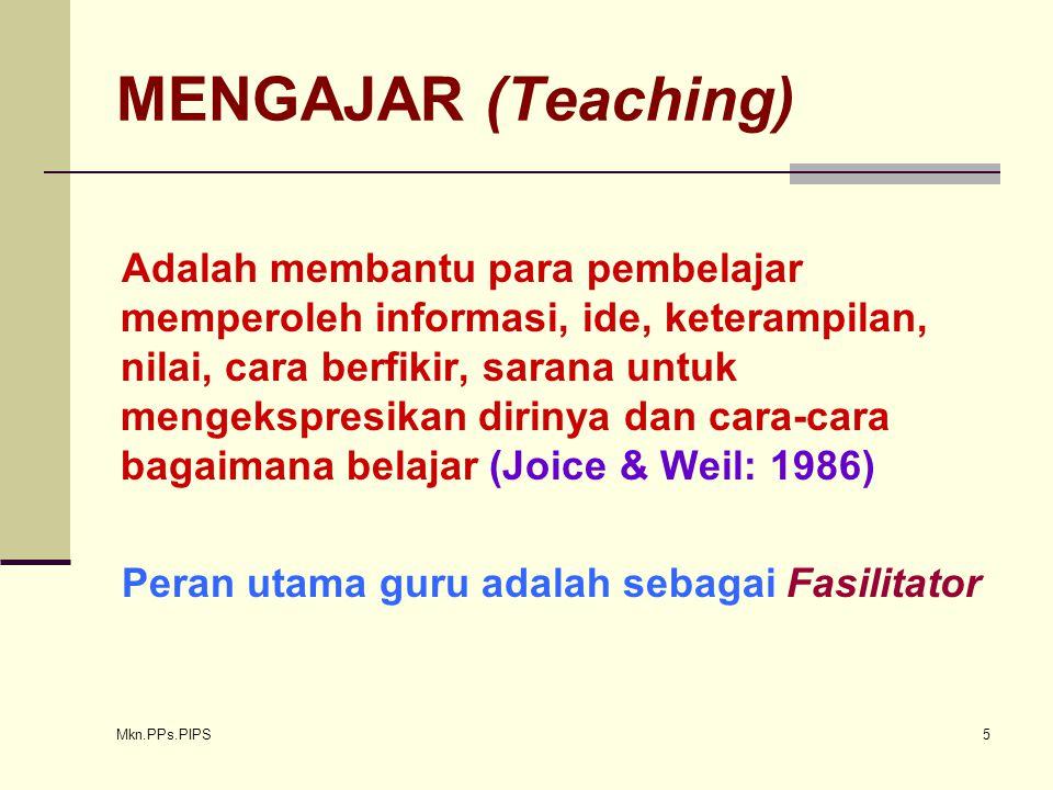 MENGAJAR (Teaching)