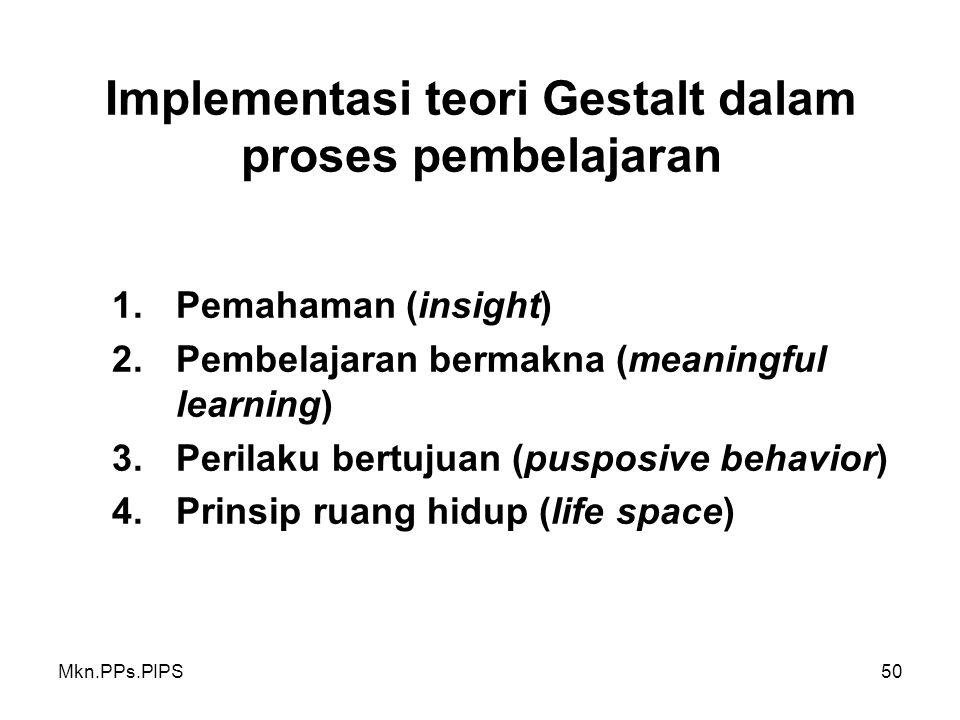 Implementasi teori Gestalt dalam proses pembelajaran