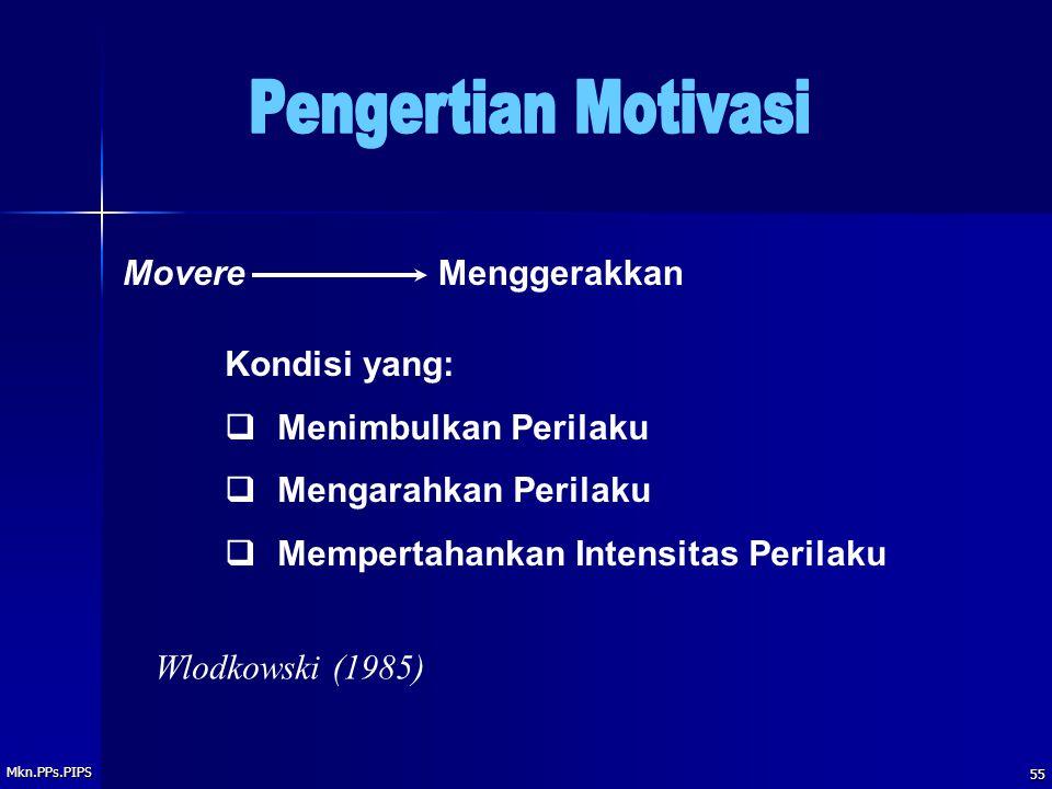 Pengertian Motivasi Movere Menggerakkan Kondisi yang: