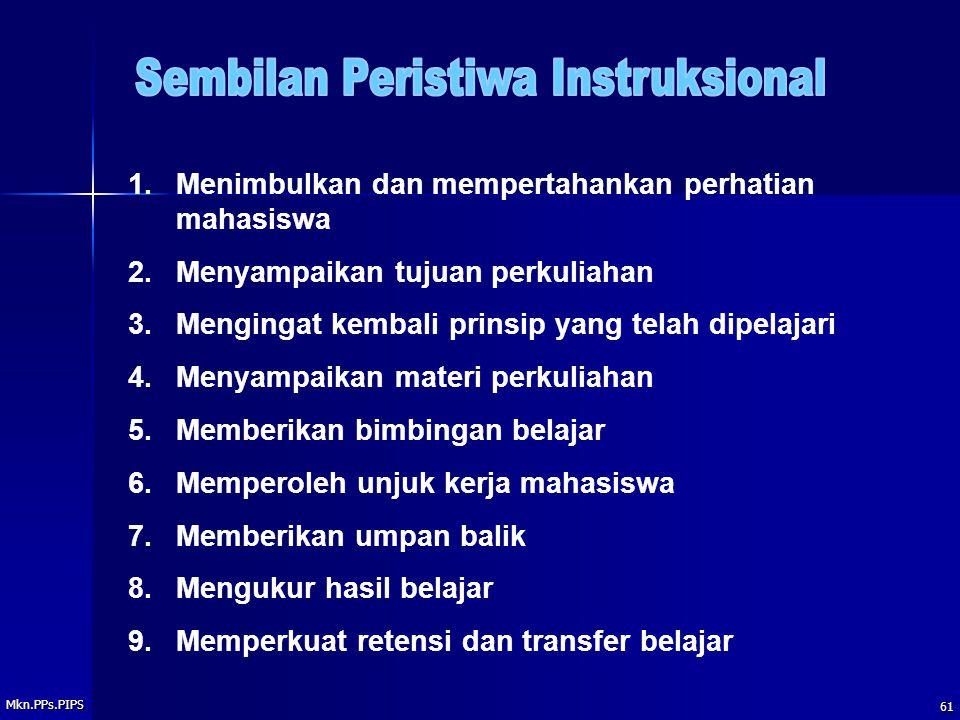 Sembilan Peristiwa Instruksional
