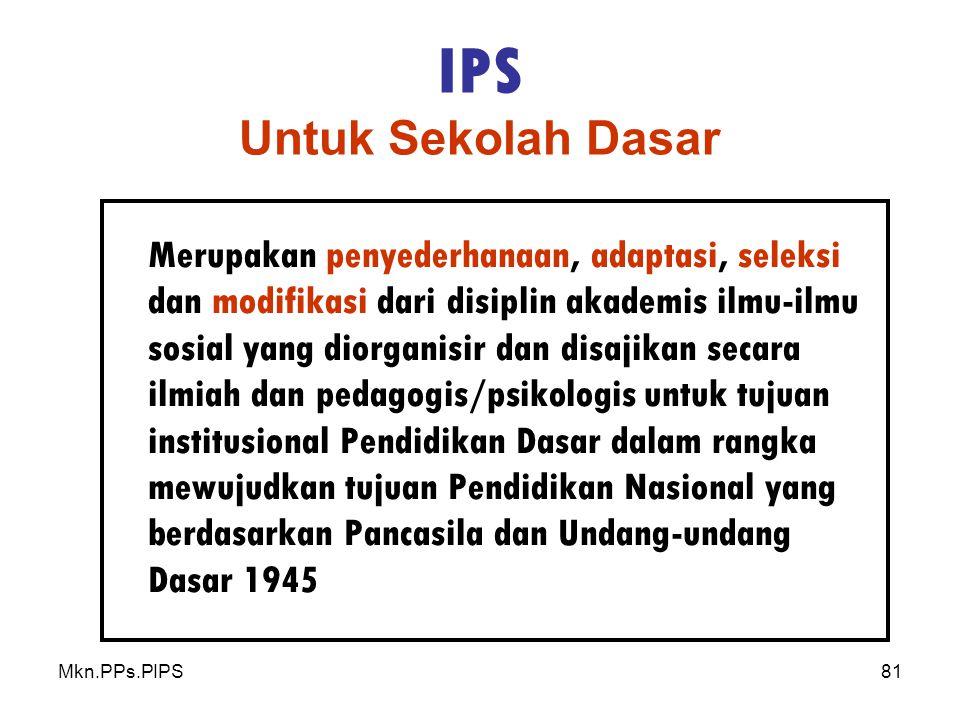 IPS Untuk Sekolah Dasar