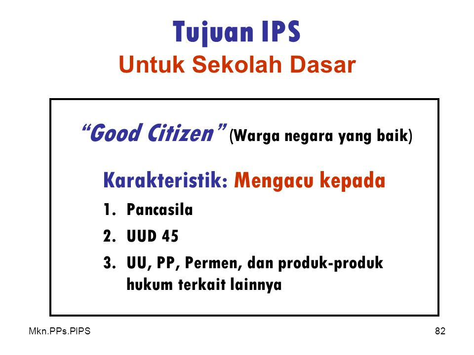Tujuan IPS Untuk Sekolah Dasar
