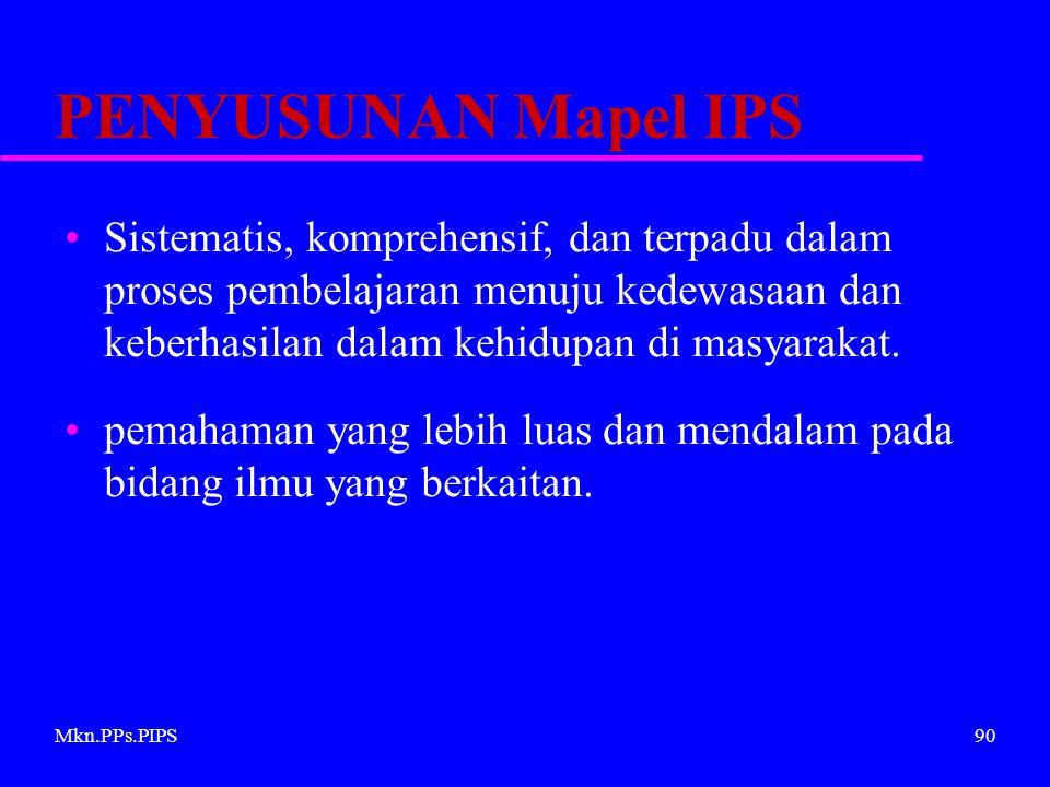 PENYUSUNAN Mapel IPS