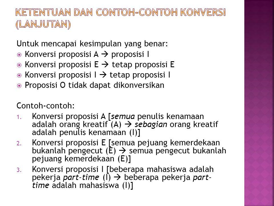 Ketentuan dan contoh-contoh konversi (LANJUTAN)