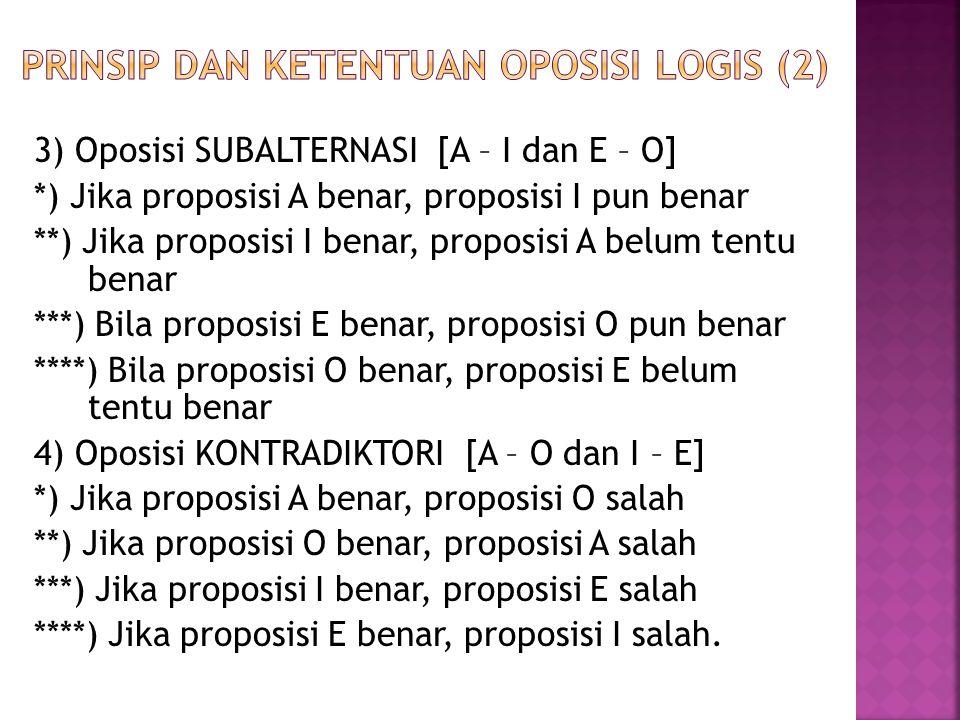 Prinsip dan ketentuan oposisi logis (2)
