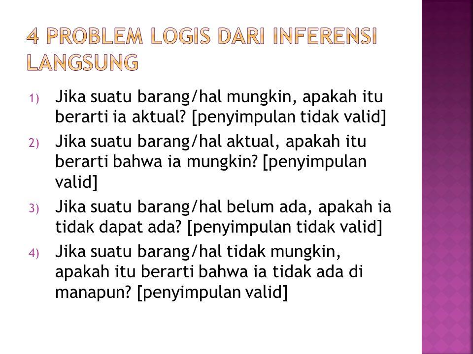 4 problem logis dari inferensi langsung