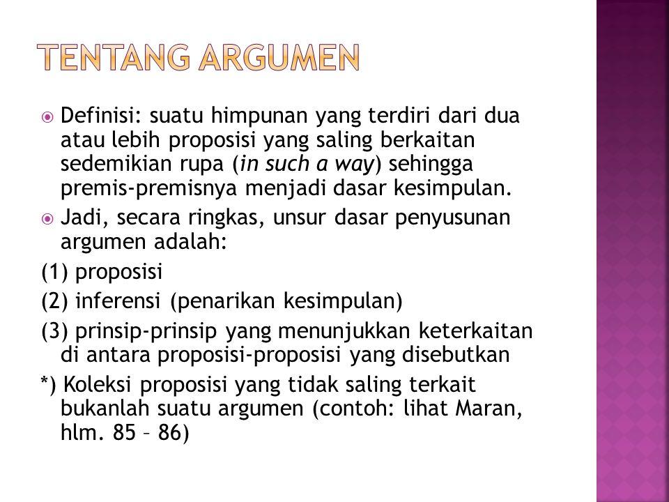 Tentang argumen