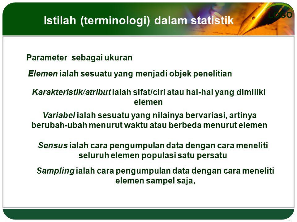 Istilah (terminologi) dalam statistik
