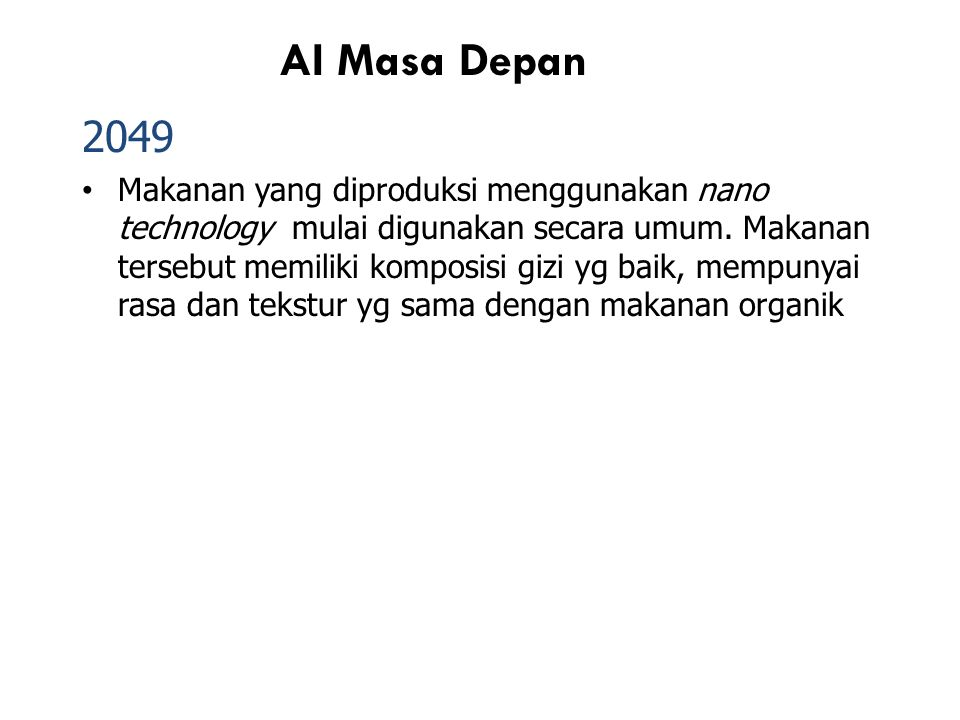 AI Masa Depan 2049.
