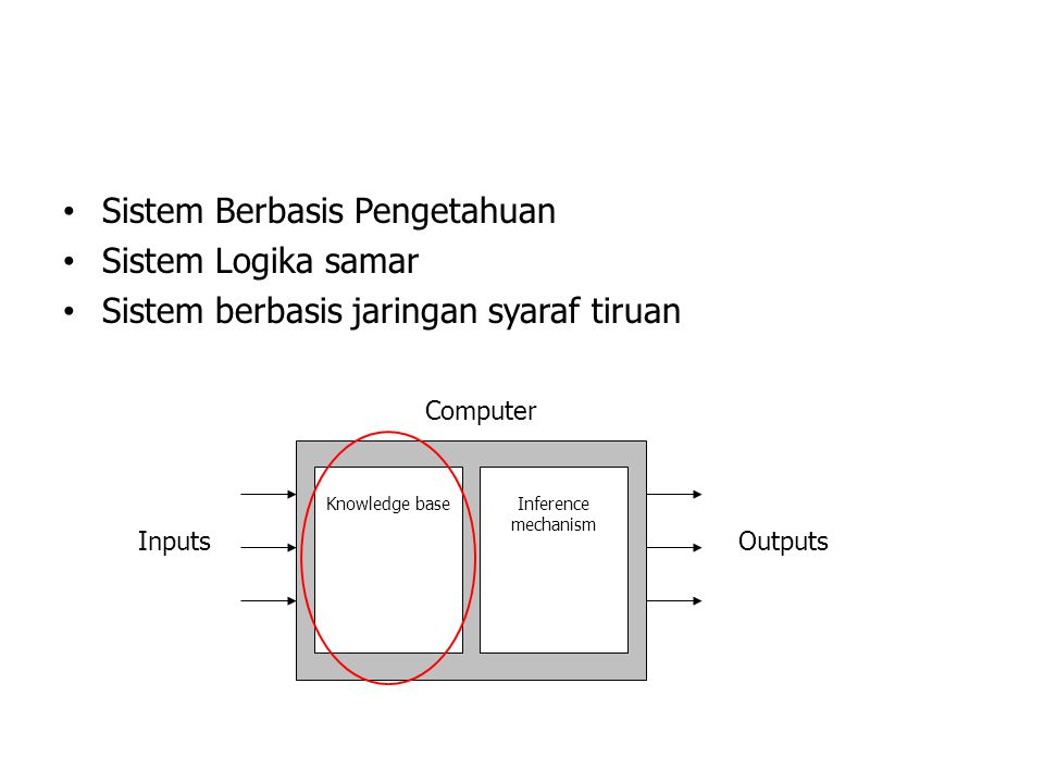 Sistem Berbasis Pengetahuan Sistem Logika samar