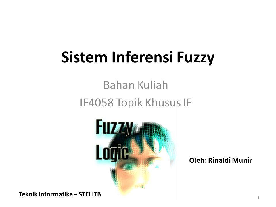 Sistem Inferensi Fuzzy