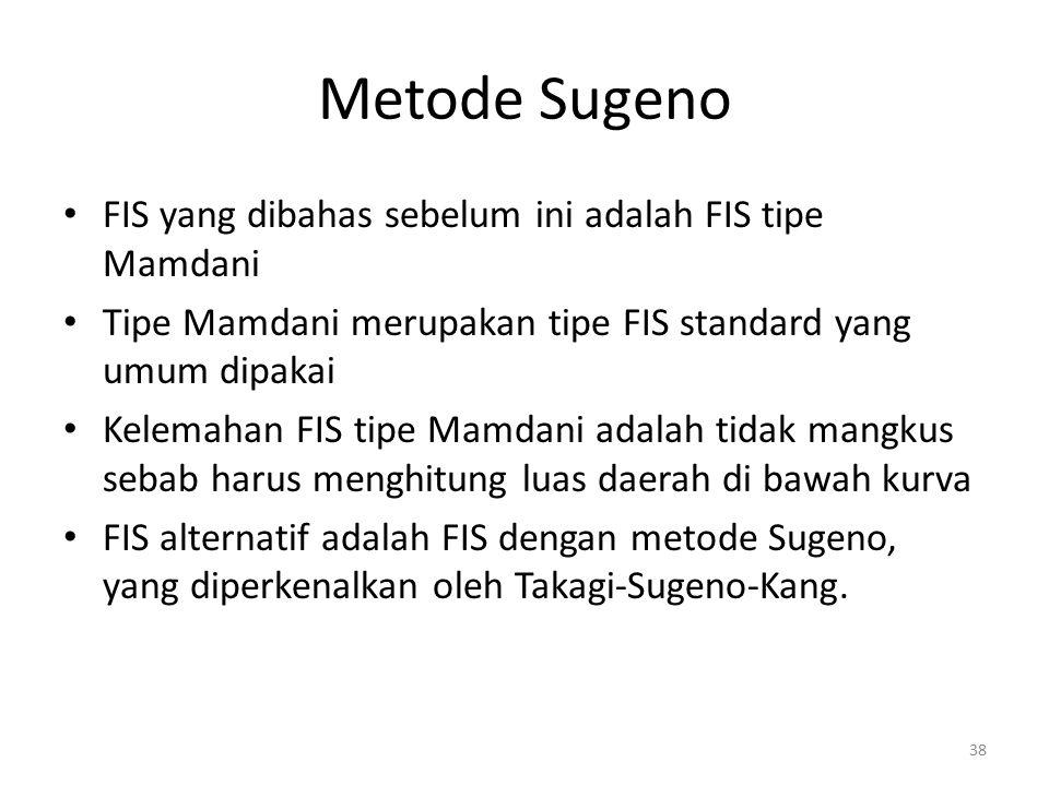 Metode Sugeno FIS yang dibahas sebelum ini adalah FIS tipe Mamdani