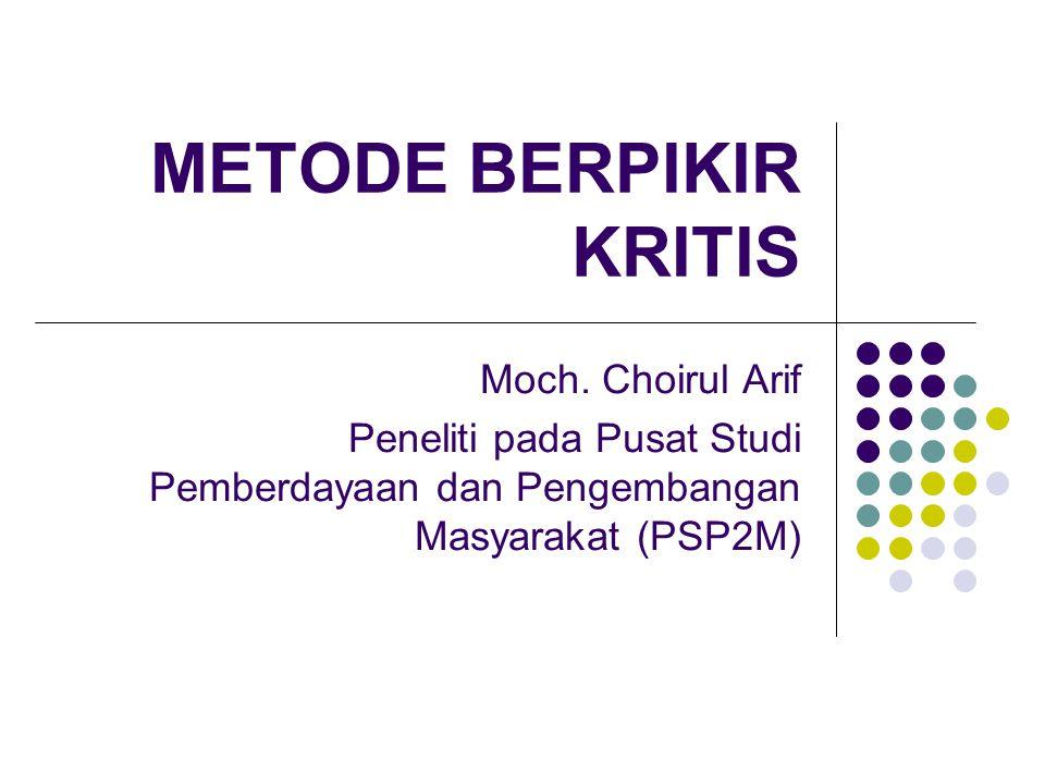 METODE BERPIKIR KRITIS