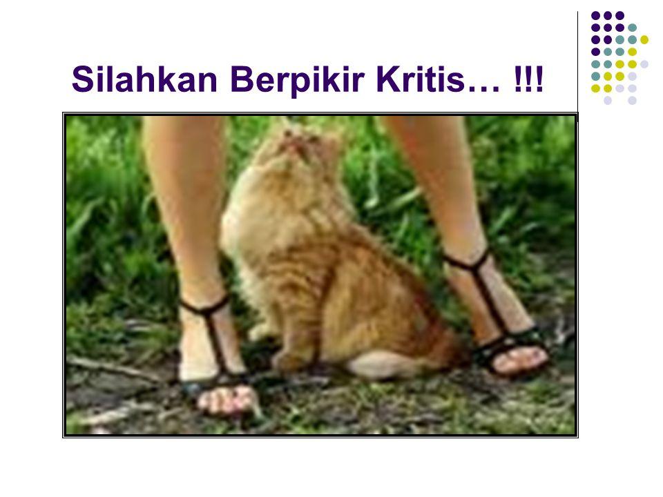 Silahkan Berpikir Kritis… !!!