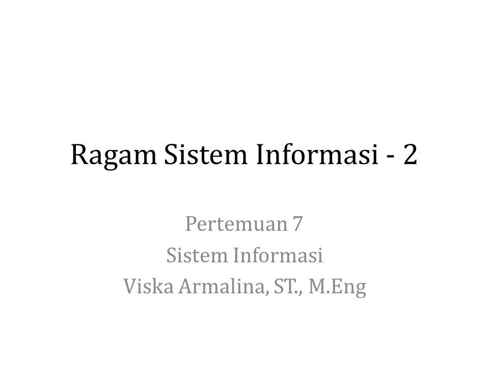 Ragam Sistem Informasi - 2