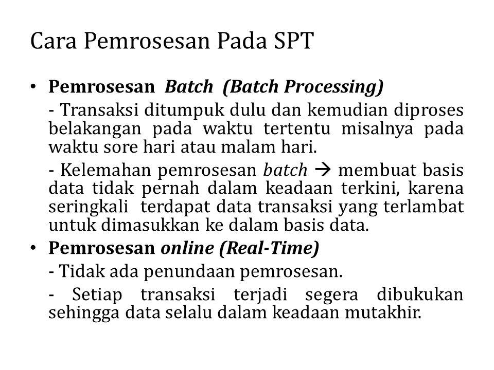 Cara Pemrosesan Pada SPT