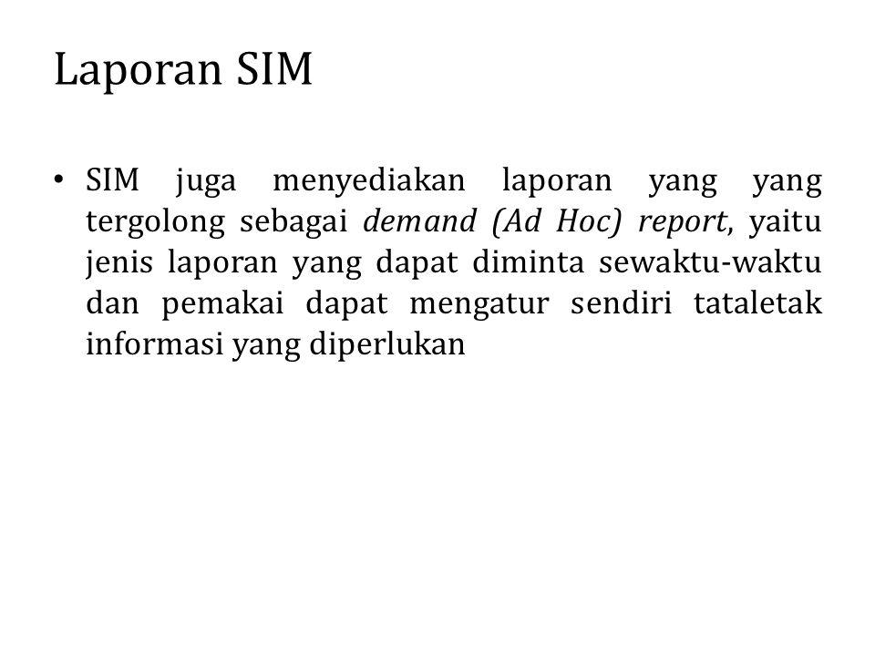 Laporan SIM