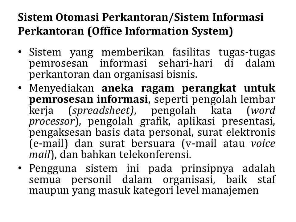 Sistem Otomasi Perkantoran/Sistem Informasi Perkantoran (Office Information System)