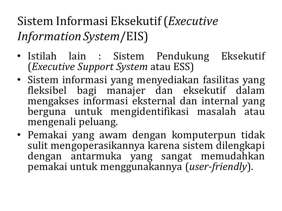 Sistem Informasi Eksekutif (Executive Information System/EIS)