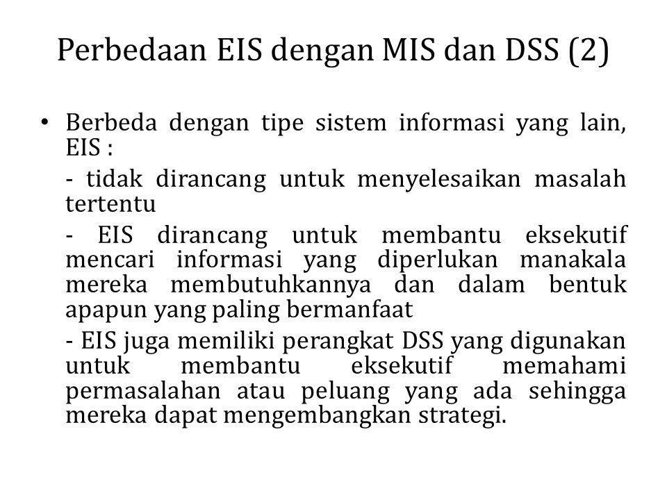 Perbedaan EIS dengan MIS dan DSS (2)